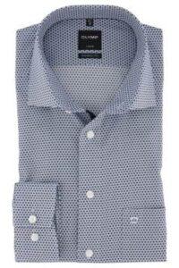 olymp-overhemd-blauw-dessin-modern-fit