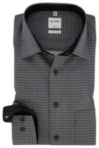 strijkvrij-overhemd-olymp-zwart-wit-comfort-fit