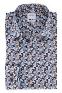 olymp-overhemd-luxor-comfort-fit-blauw-printje